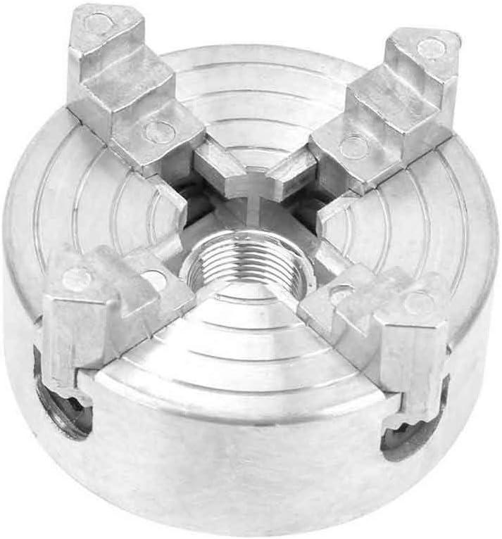 56 mm Xpccj 4 Backenfutter aus Zinklegierung selbstzentrierendes Vier-Backenfutter 1,8 ultrapr/äzise CNC-Drehbankspanner mit L-f/örmigem Schraubenschl/üssel.