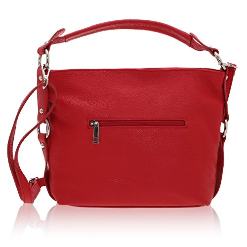 Genuino 16 26 Rojo In X Cuero Borse Hombro Bolsa Chicca Made De En Cm Italy Mujer 6 OHUw0