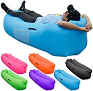 SKOLOO Camping Inflatable Lounger - Air Sofa, Portable Water Proof Anti-Air Leaking & Pillow-Shaped Design