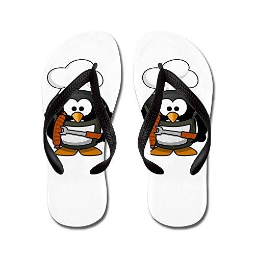 Virkelig Teague Menns Liten Runde Penguin - Bbq Grill Kongen Gummi Flip Flops Sandaler Svart