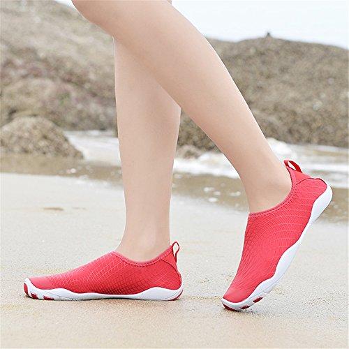 xie Unisexe Plongée Chaussures Respirants Séchage Rapide pour Nager Tous Les Sports Plage Et d'eau pour Femmes Hommes Red MeHFIai