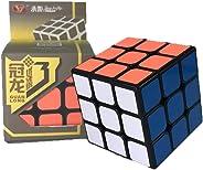 Cubo Mágico Profssional 3x3x3 Guanlong Plus V3 Preto - Cubo Store