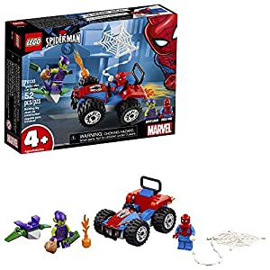 LEGO Marvel Spider-Man Car Chase 76133 Building Kit, Green Goblin and Spider Man Superhero Car Toy Chase (52 Pieces)