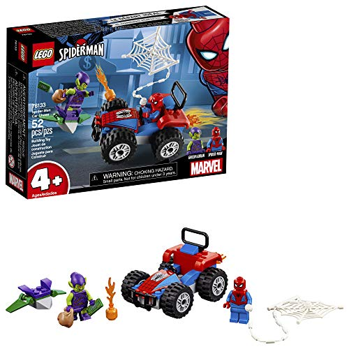 LEGO Marvel Spider-Man Car Chase 76133 Building Kit (52 Piece), Multicolor (Lego Junior Bricks)