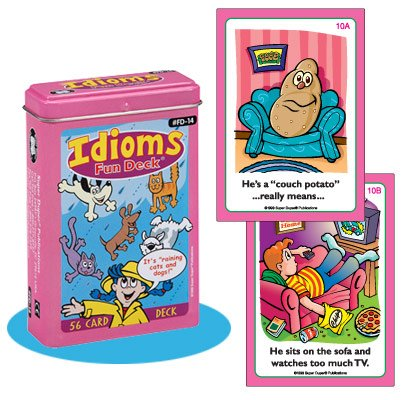 Super Duper Publications Idioms Fun Deck Flash Cards Educational Learning Resource for Children by Super Duper Publications
