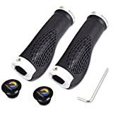 TOPCABIN Ergonomic Design Bicycle Handlebar Grips Widen Holding Surface (White)