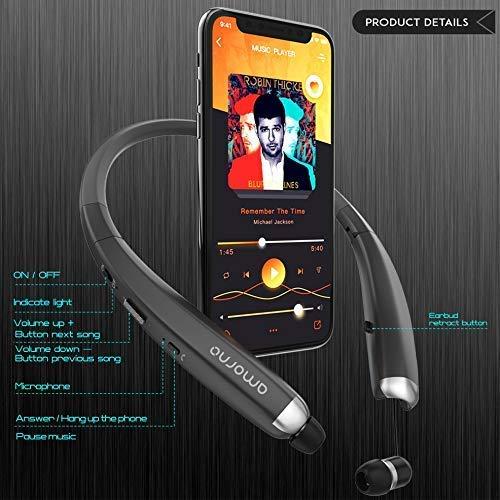 de52ed0a4c5 Bluetooth-Headphones-AMORNO-Foldable-Wireless-Neckband-Headset-with-