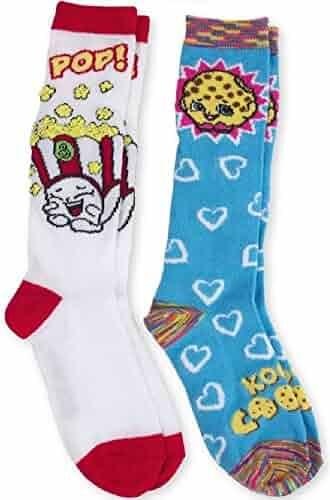 57c7e64acd3 Poppy Corn   Kooky Cookie Shopkins Knee High Socks 2 Pair Medium 7.5-3.5