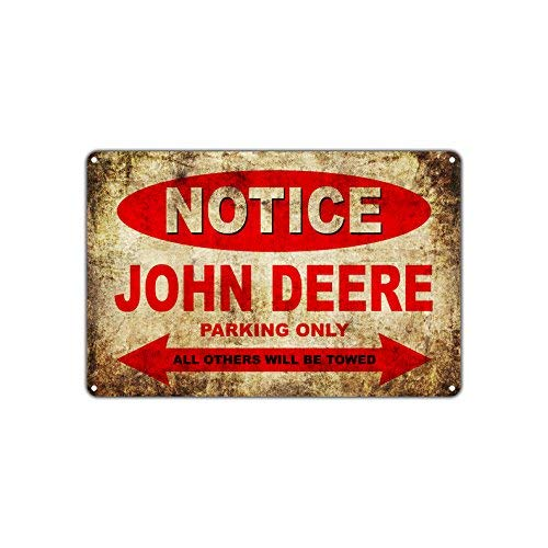 John Deere Parking Sign - John Deere Motorcycles Bikes Only All Others Will Be Towed Parking Sign Vintage Retro Metal Decor Art Shop Man Cave Bar Aluminum 8
