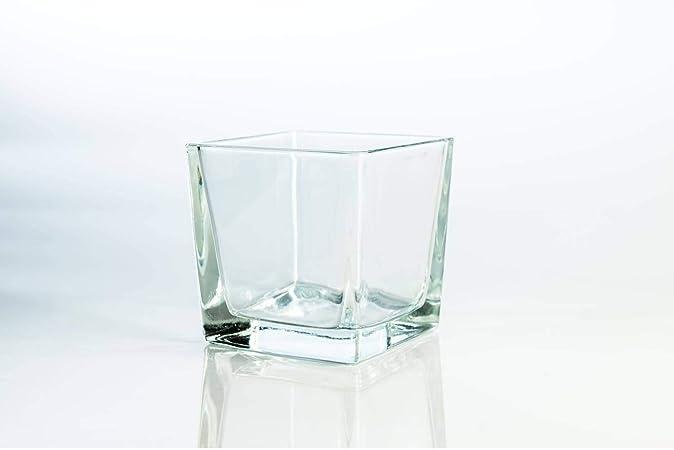 10 Photophores en verre transparent Hbf
