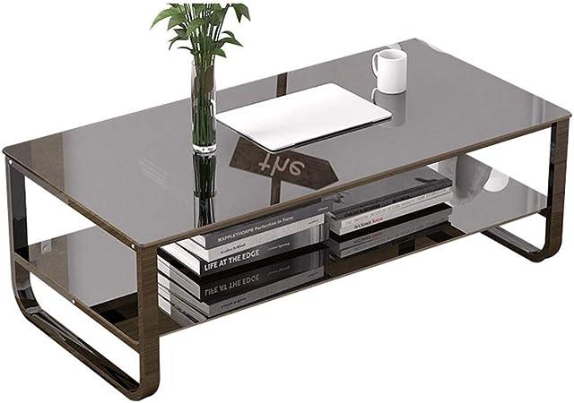 Mesa de trabajo de sala de estar, oficina Entretener Leer mesa cuadrada - Decoración de jardín Escribir mesa de comedor Vidrio templado Acción de gracias (Color : Black , Size : 120*60*40cm) : Amazon.es: Hogar