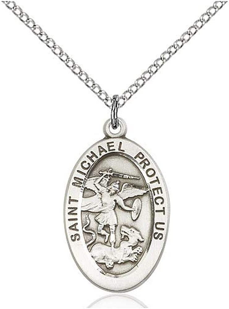 DiamondJewelryNY Sterling Silver St Michael The Archangel Pendant