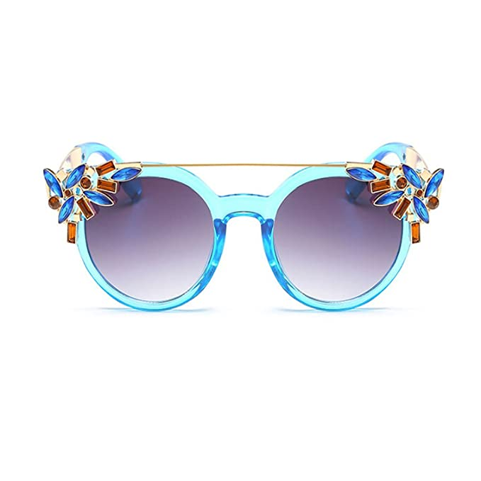 Hzjundasi Moda Vendimia Mujer Decoración Gafas de sol Metal ...