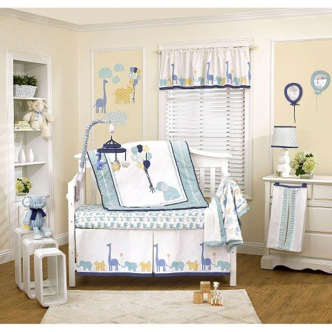 Happy Animals 4pc Crib Bedding Set by Petit Tresor