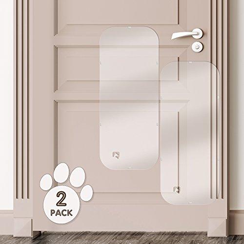 PETFECT Door Scratch Protector - Premium Set of 2 Dog Door Guards for Interior & Exterior Use - Clear (35.5 x ()