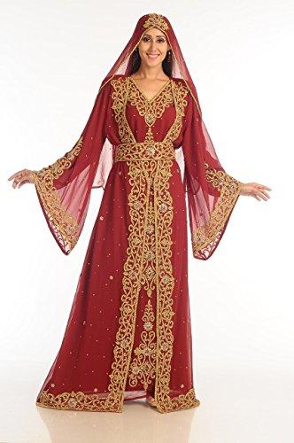 MABIYA BOUTIQUE Dubai Modern Moroccan Arabic Islamic Hand Embrodiery Dress