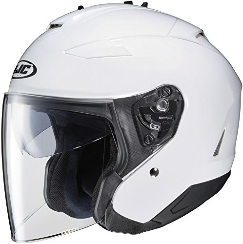 (HJC IS-33 II Open-Face Motorcycle Helmet (White, Large))