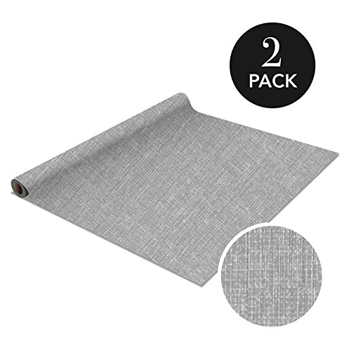 Simplify Self Adhesive Shelf Liner-Contact Paper-Draw Liner -Peel & Stick- 2 Pack - Linen Grey