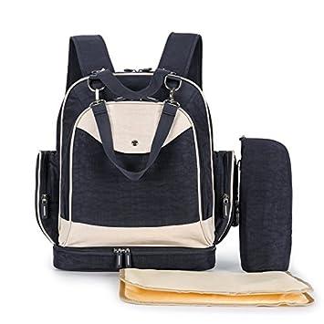 Bolsa de pañales mochila, GETALL multifunción bebé retro lavado bolsas de agua para mamás y