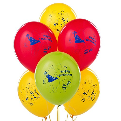 CelebrateExpress Winnie The Pooh Happy Birthday Latex Balloons (6) Party Supplies