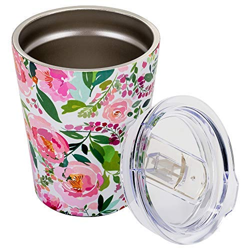 - Charlotte Floral 12 Ounce Stainless Steel Double Wall Tumber with Lid