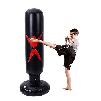 yalatan Vaso Inflable del Saco de Boxeo del Boxeo, Sacos de Arena engrosados Ligeros del PVC Que Entrena de la Aptitud Soporte del Juguete del ...