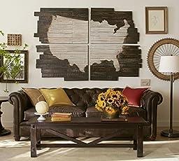 Wood USA Wall Map - United States Wood Map