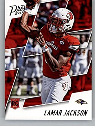 ef6812f50 2018 Prestige NFL  279 Lamar Jackson Baltimore Ravens Rookie Card RC Panini  Football Card