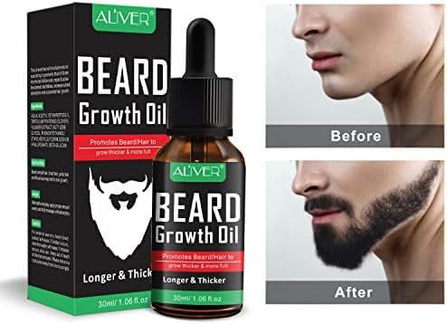 Beard Growth Oil, Natural Organic Hair Growth Oil Beard Oil Enhancer Facial Nutrition Moustache Grow Beard Shaping Tool Beard Care Products Hair Loss Products (30ml)