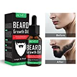 Beard Growth Oil, Natural Organic Hair Growth Oil Beard Oil Enhancer Facial Nutrition Moustache Grow...