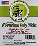 6 INCH 'Crunchy Style' Petite Steer Sticks for Dogs Made in USA~8oz Grass-Fed Pizzles, American Beef~No Antibiotics No Growth Hormones~Grain-Free Chews for Small Dogs.