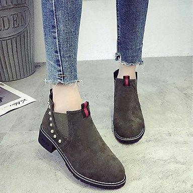 RTRY Zapatos De Mujer Cuero De Nubuck Pu Confort Moda Otoño Botas Botas Bajas Chunky Talón