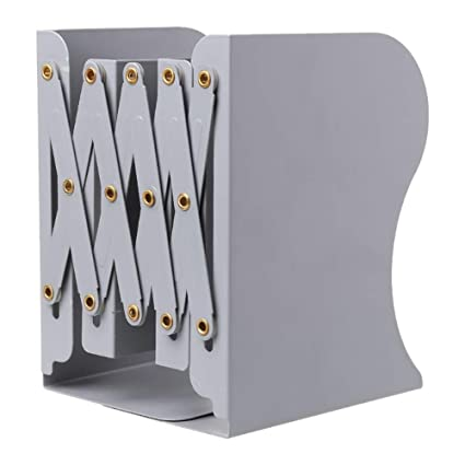 Sujetalibros, Vaxiuja Sujetalibros para estanterías Sujetalibros de metal Sujetalibros plegables ajustables Estante para sujetar libros