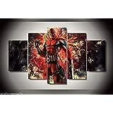 Deadpool movie comic print canvas 5 pieces