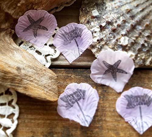 (Beach Wedding Table Decorations, Beach Party Decorations, Beach Theme Bridal Shower, Lavender 100)