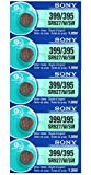 Sony Watch Battery x 5, 1.55V, Silver Oxide, Button Cell, 399 395 SR927/W/SW. (1 Strip of 5 Batteries)