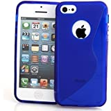 Connect Zone? Blue S-Line Gel Skin Case Cover For iPhone 5 5G 5S With Free Screen Protector  amp; Po