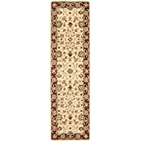 Safavieh Heritage Collection HG965A Handcrafted Traditional Oriental Ivory and Red Wool Runner (23 x 12)