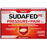 Sudafed Pe PRESSURE+PAIN Max Strength Non-Drowsy Caplets-24 count