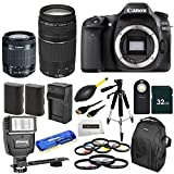 Canon EOS 80D DSLR Camera Body + Canon EF-S 18-55mm IS STM & Canon EF 75-300mm f/4-5.6 III + 9 Pcs Filter Kit (UV-CPL-FLD)+6pc Gradual Filter Kit 58MM + 32GB Memory Card + Auto Power Flash + 21 PCS Accessory Bundle