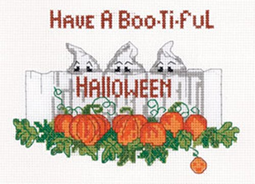 Candamar Designs Boo-ti-ful Halloween Counted Cross Stitch Kit