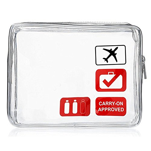 Clear Travel Toiletry Bag - TSA Approved Quart Size Airline