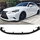 Front Bumper Lip Fits 2014-2016 Lexus IS250 IS350 | AG Style Black PU Front Lip Finisher Under Chin Spoiler Add On by IKON MOTORSPORTS | 2015