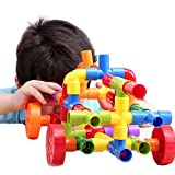 Bebamour 72pcs Tubation with Wheels Construction Building Interlocking Review and Comparison