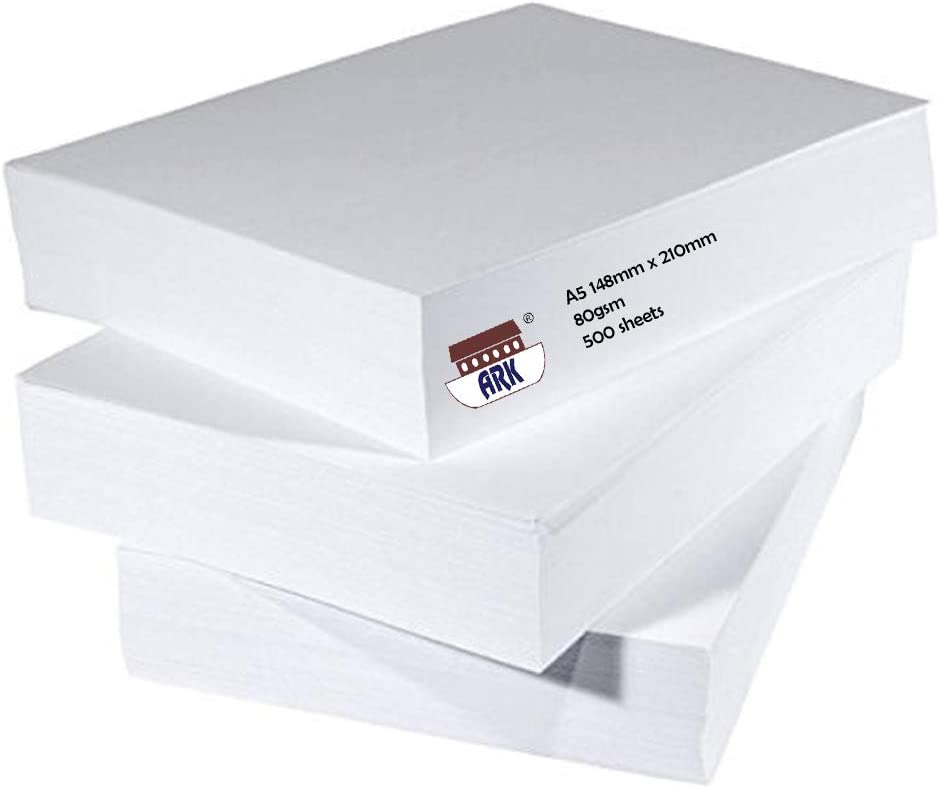 50 Sheets Of Plain A5 Paper Compatible With Staples Arc Notebook