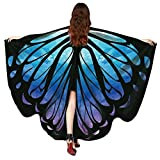 Women Butterfly Wing Cape Shawl Wrap Party Festival Nymph Pixie Wings Costume (9.mh\|)