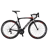 SAVADECK Herd 6.0 T800 Carbon Fiber 700C Road Bike Shimano 105 5800 Groupset 22 Speed Carbon Wheelset Seatpost Fork Ultra-Light 18.3 lbs Bicycle Black Grey 50cm
