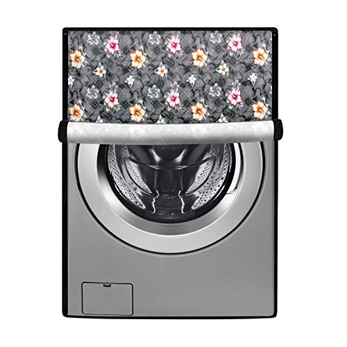 Stylista Washing Machine Cover Compatible for IFB 8.5 kg Executive Plus VX Front Load Floral Pattern Grey