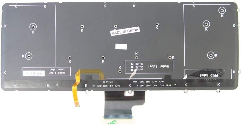 YUHUAI Teclado de repuesto para port/átil Dell Precision M3800 XPS 15 9530 con retroiluminaci/ón dise/ño Reino Unido
