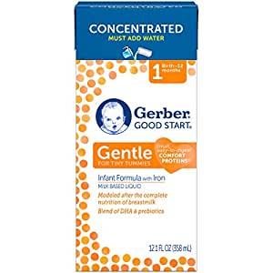 Gerber Good Start Gentle Concentrated Liquid Infant Formula, 12.1 Ounce, 2 Count (Packaging May Vary)